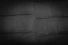 Μαύρο υπόβαθρο σύστασης δέρματος πολυτέλειας Στοκ Εικόνα