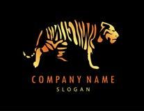 Μαύρο υπόβαθρο τιγρών λογότυπων Στοκ Εικόνες