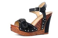 Μαύρο υψηλό παπούτσι τακουνιών Στοκ φωτογραφία με δικαίωμα ελεύθερης χρήσης