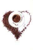 μαύρο φλυτζάνι καφέ Στοκ Εικόνες