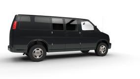 Μαύρο φορτηγό - άποψη δεξιά πλευρών στοκ εικόνες με δικαίωμα ελεύθερης χρήσης
