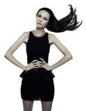 μαύρο φόρεμα λίγα Στοκ Εικόνα