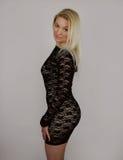 μαύρο φόρεμα λίγα Στοκ Εικόνες
