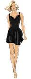 μαύρο φόρεμα λίγο διάνυσμα Στοκ Εικόνες