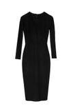 Μαύρο φόρεμα μολυβιών με τα μακριά μανίκια στοκ εικόνα