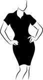μαύρο φόρεμα Στοκ Φωτογραφίες