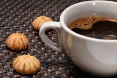 μαύρο φλυτζάνι καφέ Στοκ Φωτογραφία