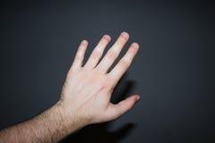 μαύρο χέρι ανασκόπησης Στοκ Εικόνα