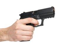 μαύρο χέρι πυροβόλων όπλων Στοκ εικόνα με δικαίωμα ελεύθερης χρήσης