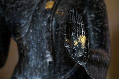 Μαύρο χέρι του Βούδα Στοκ φωτογραφία με δικαίωμα ελεύθερης χρήσης