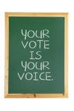 Μαύρο χαρτόνι με την ψηφοφορία της έννοιας Στοκ Εικόνες