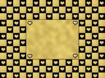 Μαύρο & χρυσό σχέδιο καρδιών άνευ ραφής, υπόβαθρο σύστασης Στοκ φωτογραφία με δικαίωμα ελεύθερης χρήσης