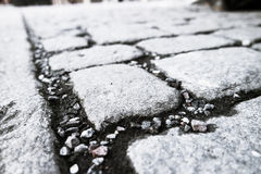 Μαύρο χρώμα πορειών περιπάτων κυβόλινθων Στοκ εικόνα με δικαίωμα ελεύθερης χρήσης