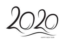 μαύρο χρώμα σχεδίου κειμένων του 2020, συλλογή καλής χρονιάς και καλές διακοπές, του γράφοντας στοιχείου σχεδίου, χειρόγραφος που ελεύθερη απεικόνιση δικαιώματος