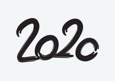 μαύρο χρώμα σχεδίου κειμένων του 2020, συλλογή καλής χρονιάς και καλές διακοπές, του γράφοντας στοιχείου σχεδίου, χειρόγραφος που διανυσματική απεικόνιση