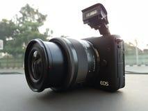 Μαύρο χρώμα της Canon EOS M10 Στοκ εικόνα με δικαίωμα ελεύθερης χρήσης