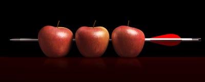 μαύρο χτύπημα τρία βελών μήλων διανυσματική απεικόνιση