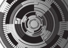Μαύρο ψηφιακό υπόβαθρο προτύπων Στοκ εικόνα με δικαίωμα ελεύθερης χρήσης