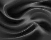 μαύρο διάνυσμα σατέν Στοκ Εικόνα