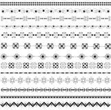 μαύρο διάφορο λευκό μοτίβ Στοκ Φωτογραφίες