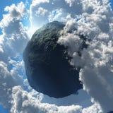 Μαύρο Asteroid Στοκ Εικόνα