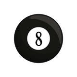 μαύρο billard οκτώ σφαιρών εικονίδιο Στοκ Φωτογραφίες