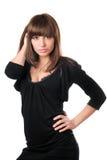 μαύρο brunette καυτό στοκ φωτογραφία με δικαίωμα ελεύθερης χρήσης