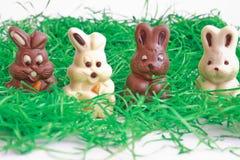 μαύρο bunnies λευκό Πάσχας Στοκ εικόνα με δικαίωμα ελεύθερης χρήσης
