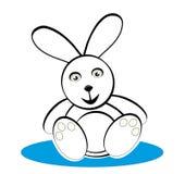 μαύρο bunny λευκό Στοκ Εικόνα