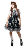 μαύρο cosplay κορίτσι φορεμάτων Στοκ Φωτογραφίες