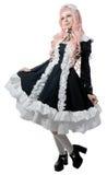 μαύρο cosplay κορίτσι φορεμάτων Στοκ Εικόνες