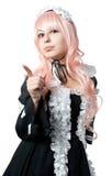 μαύρο cosplay κορίτσι φορεμάτων Στοκ φωτογραφίες με δικαίωμα ελεύθερης χρήσης