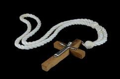 μαύρο crucifix ανασκόπησης Στοκ Φωτογραφία