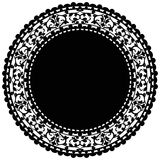 Μαύρο doily Στοκ φωτογραφίες με δικαίωμα ελεύθερης χρήσης