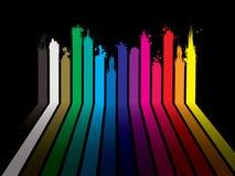 μαύρο dribble ουράνιο τόξο χρωμάτ&ome διανυσματική απεικόνιση