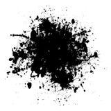 μαύρο dribble grunge διανυσματική απεικόνιση