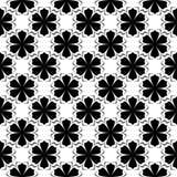 Μαύρο floral άνευ ραφής σχέδιο στο άσπρο υπόβαθρο Στοκ Εικόνα