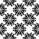 Μαύρο floral άνευ ραφής σχέδιο στο άσπρο υπόβαθρο Στοκ φωτογραφίες με δικαίωμα ελεύθερης χρήσης