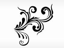μαύρο floral διάνυσμα προτύπων Στοκ Εικόνες