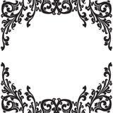 μαύρο floral πλαίσιο Στοκ Εικόνες
