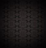 μαύρο floral πρότυπο ανασκόπηση&sig διανυσματική απεικόνιση