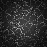 Μαύρο floral σχέδιο ταπετσαριών Στοκ Φωτογραφίες