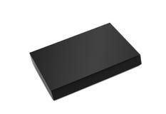 μαύρο giftbox Στοκ Φωτογραφία