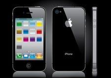 μαύρο iphone Στοκ Εικόνες