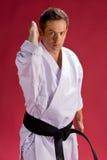 μαύρο karate ζωνών άτομο Στοκ εικόνα με δικαίωμα ελεύθερης χρήσης