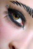 μαύρο makeup Στοκ Εικόνες