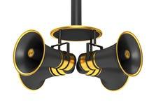 Μαύρο megaphone τέσσερα διανυσματική απεικόνιση