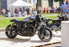 Μαύρο motobike Yamaha στοκ φωτογραφία με δικαίωμα ελεύθερης χρήσης
