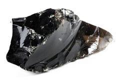 Μαύρο obsidian Στοκ Εικόνες