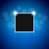Μαύρο photoframe Στοκ εικόνες με δικαίωμα ελεύθερης χρήσης